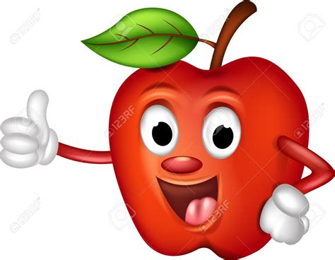 Pencil And In Color Apple Clipart Funny