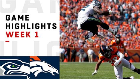 seahawks  broncos week  highlights nfl  youtube