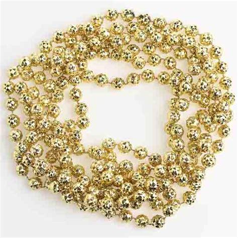 10mm metallic gold faceted bead garland 9 feet