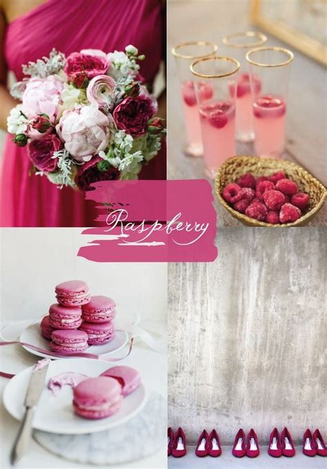 ideas  raspberry wedding color  pinterest