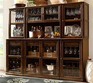 Build your own saxton modular cabinets pottery barn for Home bar furniture china