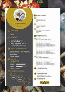 Chef resume template my own work pinterest template for Chef portfolio template