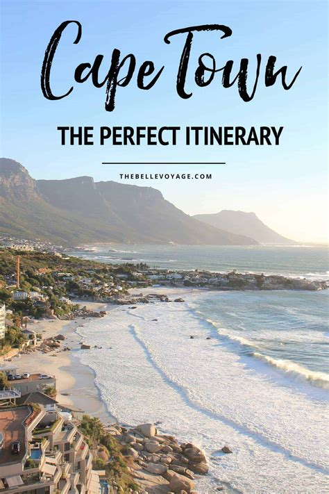 Cape Town, South Africa  The Perfect Itinerary For First
