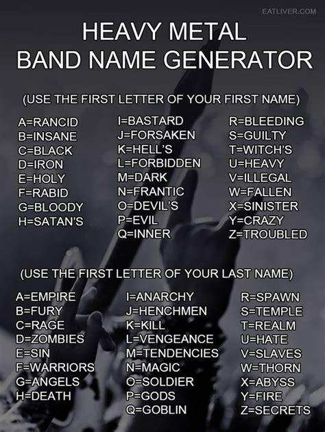 Name Meme Generator - heavy metal band name generator my best humor pin community board pinterest dark angels