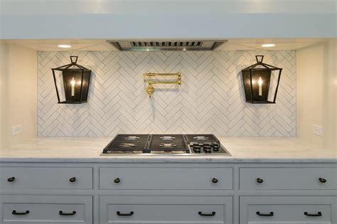 white kitchen  gray island  farmhouse sink