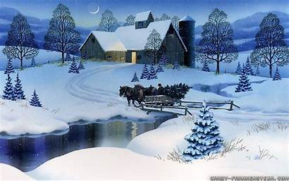 Winter Scenes Scene Christmas Village Resolution Wallpapers