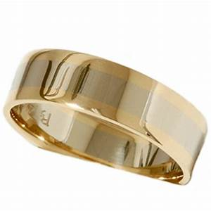 mens gold plain two tone comfort fit wedding band 14k ebay With mens two tone wedding ring