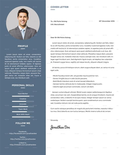 Resume About Me by Clean Creative Resume V2 By Suavedigital Graphicriver