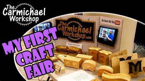 festival  craft fair woodworking booth youtube