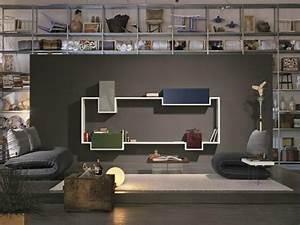 Etagere Salon Design : la tablette murale modulable de design original par lago ~ Teatrodelosmanantiales.com Idées de Décoration