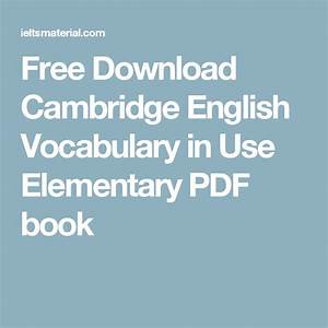 Free Download Cambridge English Vocabulary In Use