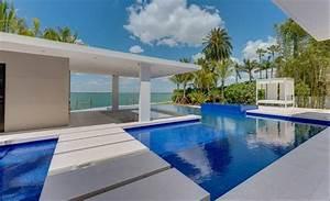 Modern, Luxury, Villa, In, Miami, With, Ocean, Views