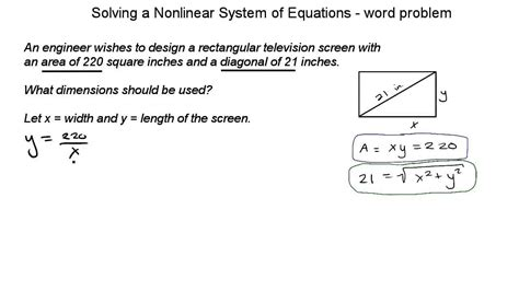 nonlinear systems of equations worksheet images free