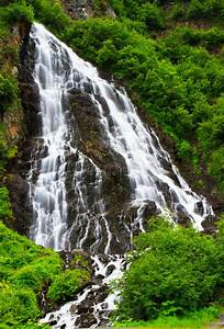 Horsetail Falls, Keystone Canyon, Alaska Stock Photos ...