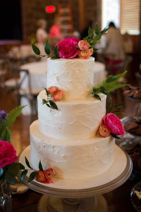 tier pink champagne wedding cake