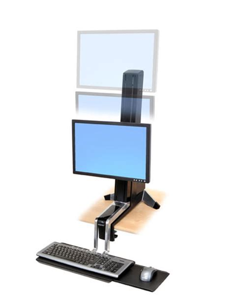 ergotron sit stand desk adjustment ergotron workfit s single ld sit stand height adjustable