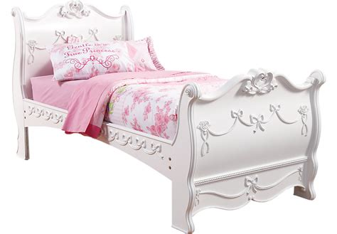 princess bed disney princess white 3 pc sleigh bed beds white