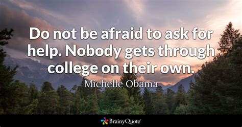 michelle obama    afraid