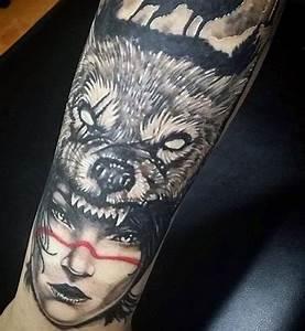 Tatouage Loup Graphique : tatouages loup 130 meilleures id es et leur signification ~ Mglfilm.com Idées de Décoration