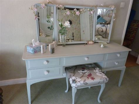 Stag Dressing Table with stool Painted Vintage, Antique