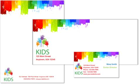 child care stationery set template  child care owner