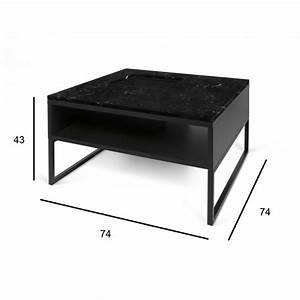 Table Marbre Noir : temahome table basse sigma marbre noir pieds en m tal ~ Teatrodelosmanantiales.com Idées de Décoration