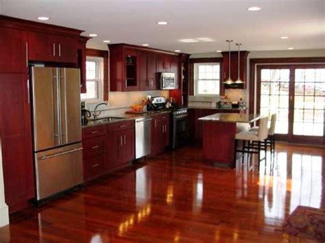 Dark Cherry Wood Kitchen Cabinets Portable Backyard Fire