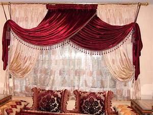 Rideaux Pour Salon Moderne : rideaux salons marocains voilage ~ Teatrodelosmanantiales.com Idées de Décoration