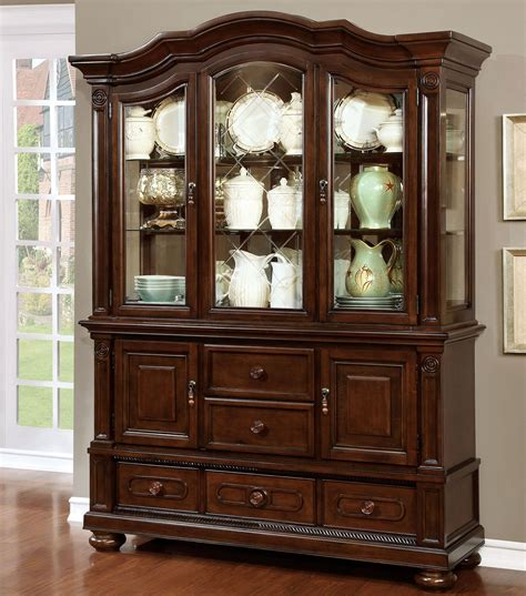 Cherry Buffet And Hutch - alpena brown cherry hutch and buffet cm3350hb set