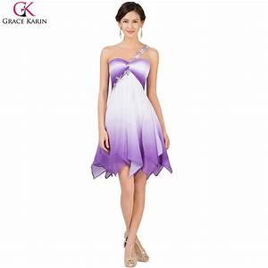 Grace Karin Prom Dress Purple Chiffon Sequin Beaded Short ...