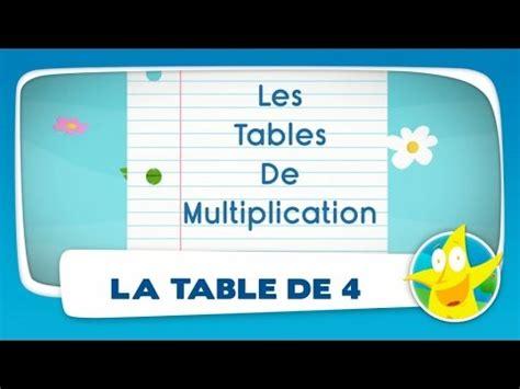 table de 4 comptines pour enfants la table de 4 apprendre les