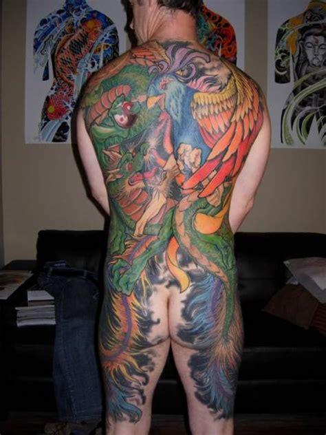 japanische pfau ruecken drachen tattoo von burning monk tattoo