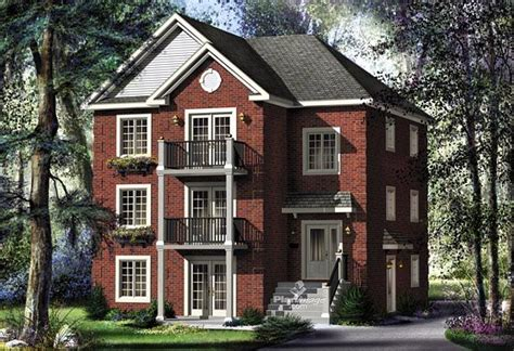 colonial traditional multi family plan  traditional home   ojays
