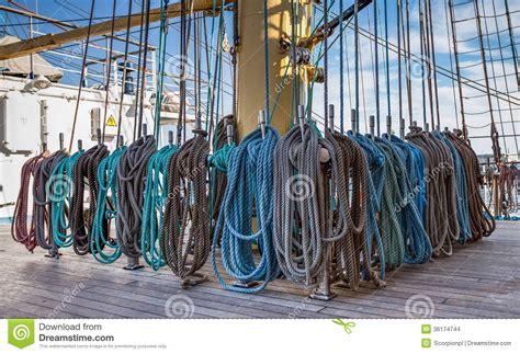 rigging  mast   large  tall ship stock photo