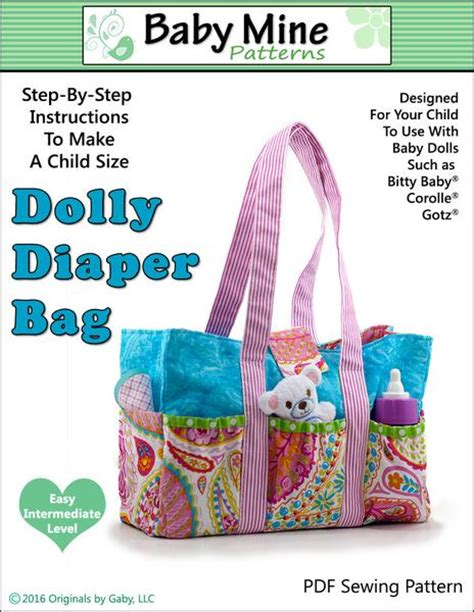 baby  dolly diaper bag doll accessory pattern