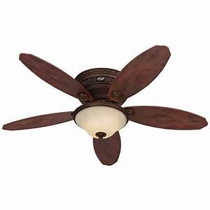 Hunter avignon in tuscan gold flush mount ceiling fan
