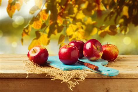wallpaper apples chopping board knife hd  lifestyle