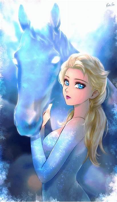 Frozen Elsa Queen Deviantart Snow Anime Shen