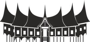 rumah gadang padang logo vector cdr