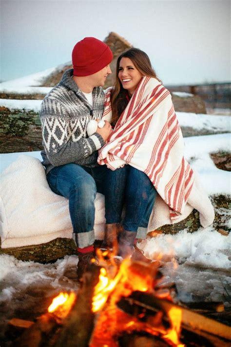 romantic winter engagement photo ideas hative