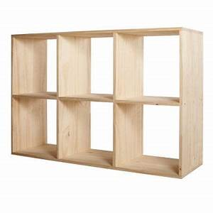 etagere modulable 6 cases coloris pin mixxit castorama With meuble 6 cases castorama