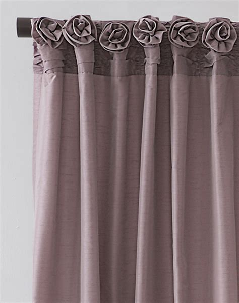 dkny rosette window curtain panel curtainworks