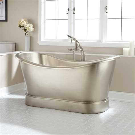 Slipper Tubs For Sale by 66 Quot Larimore Nickel Plated Copper Slipper Tub In