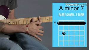 How To Play An A Minor 7 Barre Chord