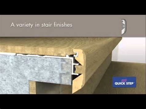 quick step laminate stair profile incizo    youtube