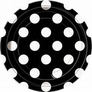 Teller Schwarz Weiß : 8 kleine teller schwarz mit wei en punkten ~ Eleganceandgraceweddings.com Haus und Dekorationen