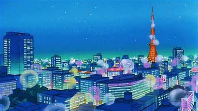 Sailor Moon Anime Scenery Tokyo Tower Japanese