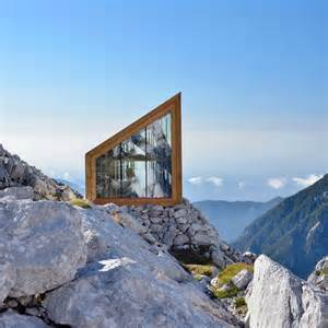 chalet designs ofis constructs alpine shelter for climbers of skuta mountain