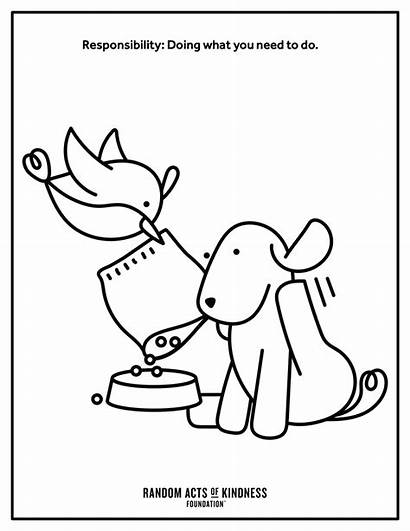 Printables Kindness Pdf Coloring Acts Random Pages