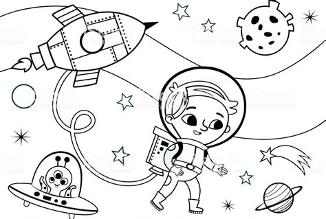 Coloring Pages Of Astronauts Natashamillerweb
